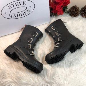 Steve Madden Women's Thunder Mid Calf Rain Boot 5